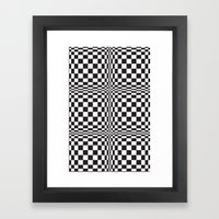 technicolor in black & white Framed Art Print