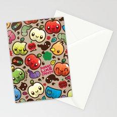 Apple Pattern Stationery Cards