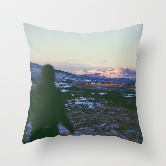 Looking Out To Snowdon Throw Pillow