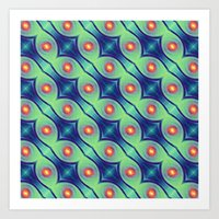 The Nuclei - Colorway 1 Art Print