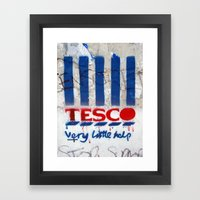 Art On The Run: Anti-Tesco Campaign, Bristol, UK Framed Art Print