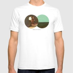 Boring by The Sea | Collage Mens Fitted Tee White SMALL
