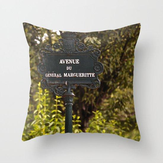 Paris Avenue Throw Pillow
