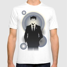 Phoenix Wright - 10th Anniversary Print SMALL Mens Fitted Tee White