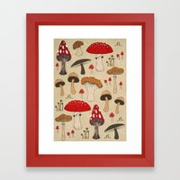 Mushrooms Framed Art Print