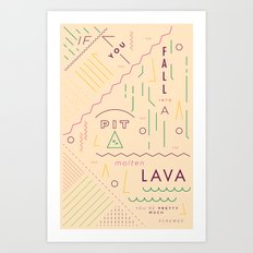 Haikuglyphics - On Lava Art Print