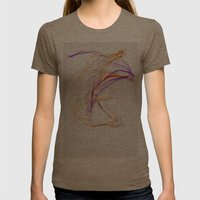Strings Womens Fitted Tee Tri-Coffee SMALL