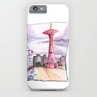 iPhone & iPod Case featuring Coney Island: Parachute Jump by mendydraws
