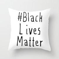 #Black Lives Matter Throw Pillow
