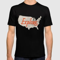 Explore Mens Fitted Tee SMALL Black