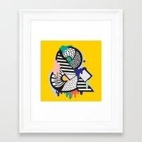 &. Framed Art Print