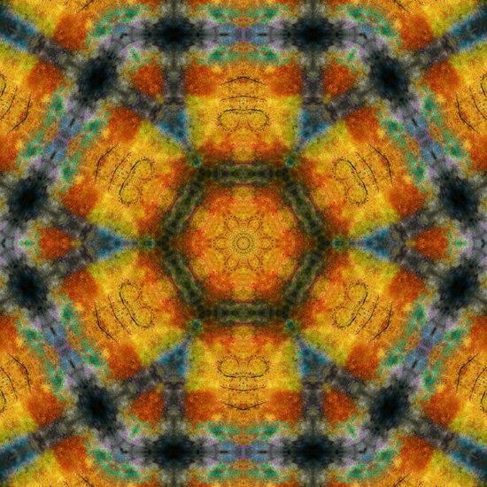 Colours of Nature Mandala Art Print