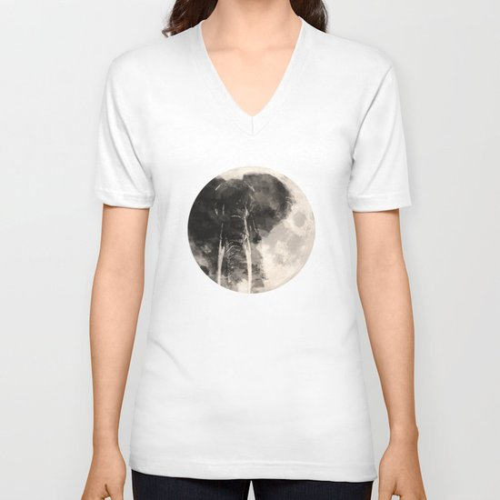 The Elephant in The Moon V-neck T-shirt