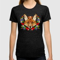Spring Fox  Womens Fitted Tee Tri-Black SMALL