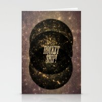 Rocket Ship! Stationery Cards