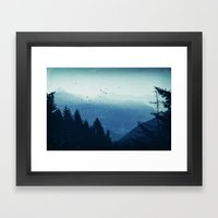 Blue Valmalenco - Alps at sunrise Framed Art Print