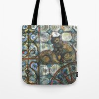 Cats In The Patio. Tote Bag