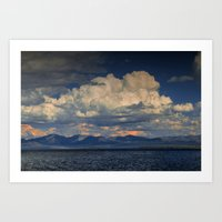 Billowing Clouds Over Ye… Art Print