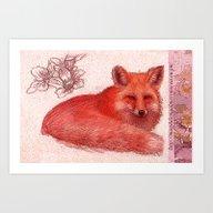 Art Print featuring Fox  by Magdalena Almero
