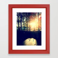 Backyard Sunset Framed Art Print