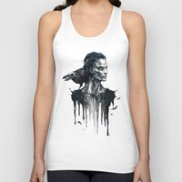 Zombie and Crow Unisex Tank Top