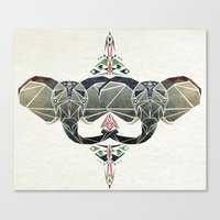 elephant aztec  Canvas Print