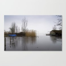 The silence of the Lake in wintertime Canvas Print