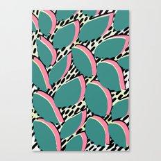80s leaf pattern Canvas Print