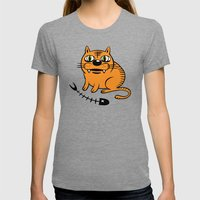 FAT CAT Womens Fitted Tee Tri-Grey SMALL