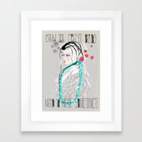 Even the freest birds need to rest sometimes Framed Art Print