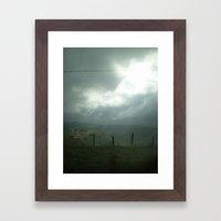 wired sky Framed Art Print