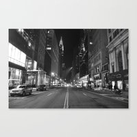 Empty 42nd Street Canvas Print