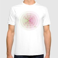 SoundWaves Lime/Magenta Mens Fitted Tee White SMALL