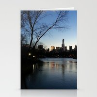 Dusk In The City Stationery Cards