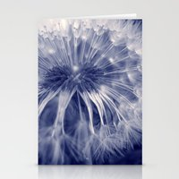 blue dandelion I Stationery Cards