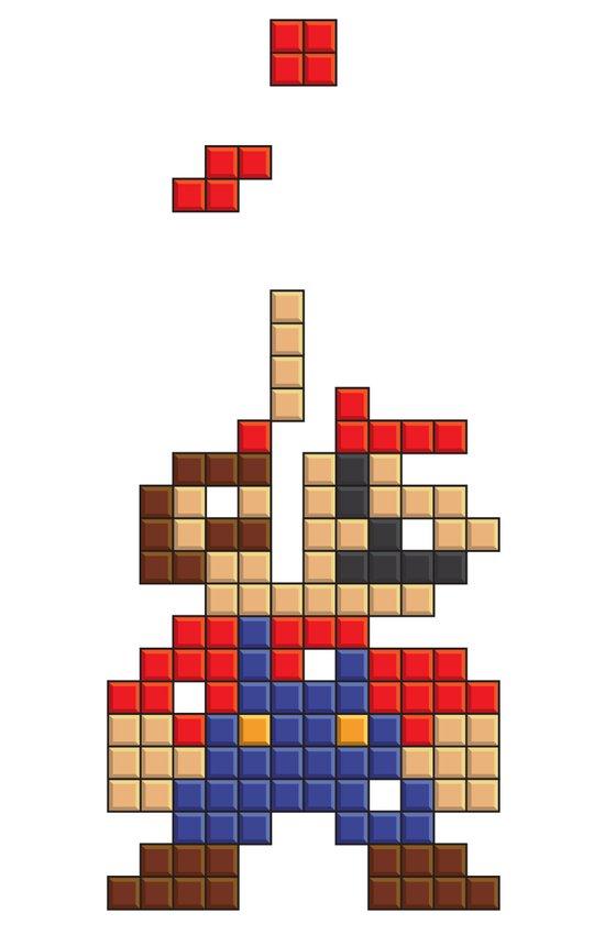 Super Mario Tetris Art Print