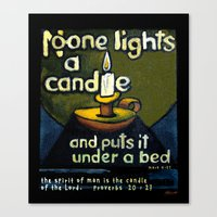 The Candle Canvas Print