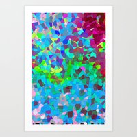 Colourful Abstract. Art Print