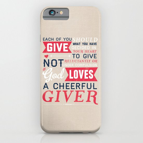 2 Corinthians 9:7 iPhone & iPod Case