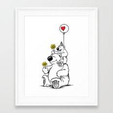 Papa Bear & Baby Bear Framed Art Print