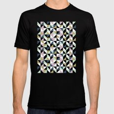 Geometric Pattern 01 Mens Fitted Tee SMALL Black