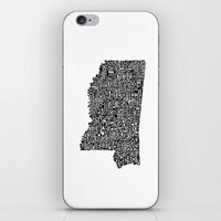 Typographic Mississippi iPhone & iPod Skin