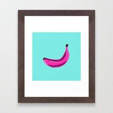 Banana goes purple Framed Art Print