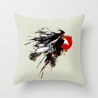 Eruption Eagle Throw Pillow