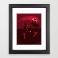 Farewell Brave Knight Framed Art Print