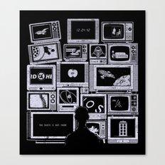 TV Addict Canvas Print
