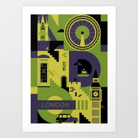 london Art Prints featuring London by koivo