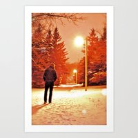 Take a Walk With Me Art Print