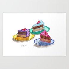 Cakes  Art Print