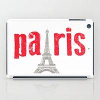 Paris Red iPad Case
